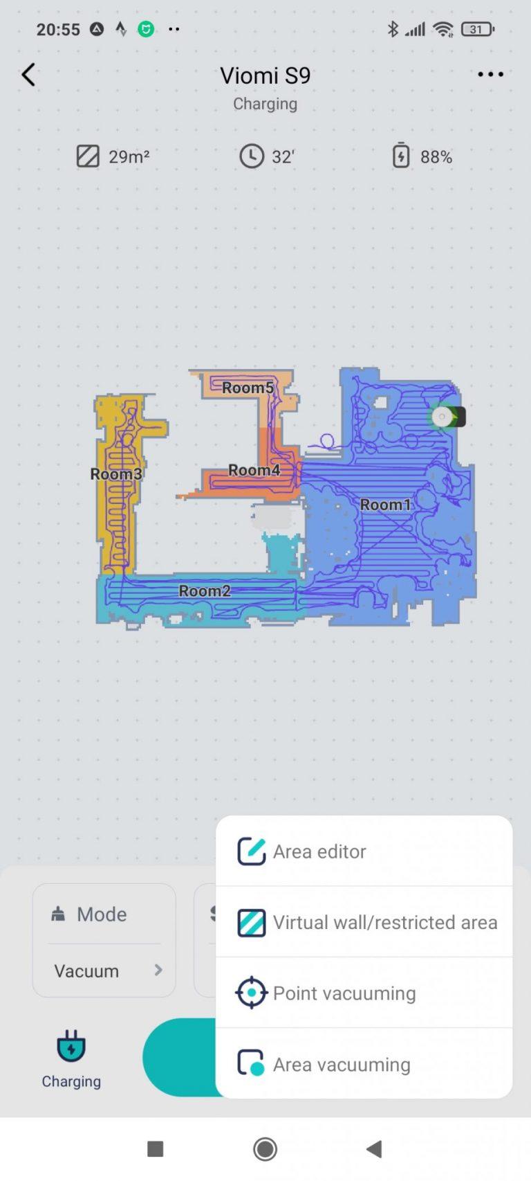 Xiaomi Viomi S9 önürítő robotporszívó teszt 28