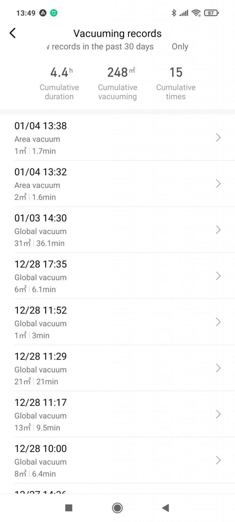 Xiaomi Viomi S9 önürítő robotporszívó teszt 34
