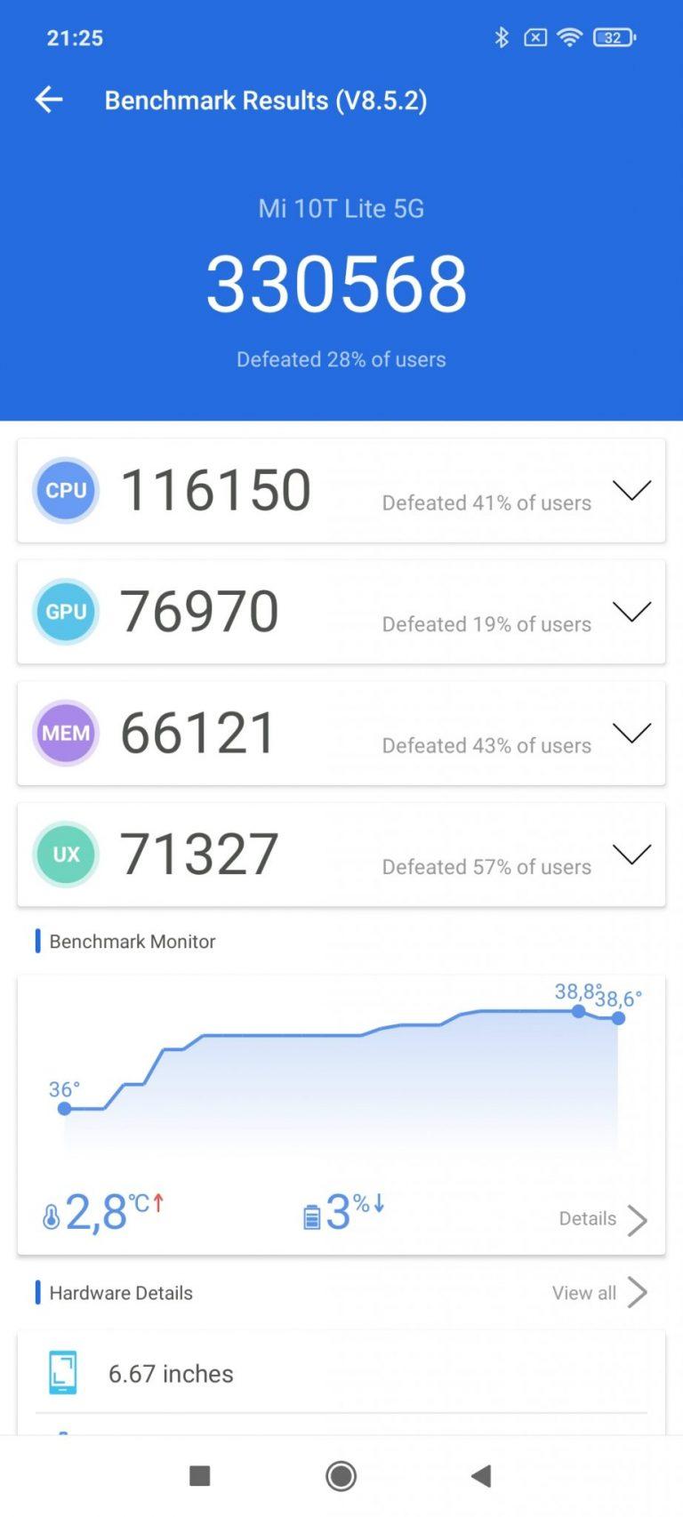 Xiaomi Mi 10T Lite okostelefon teszt 19
