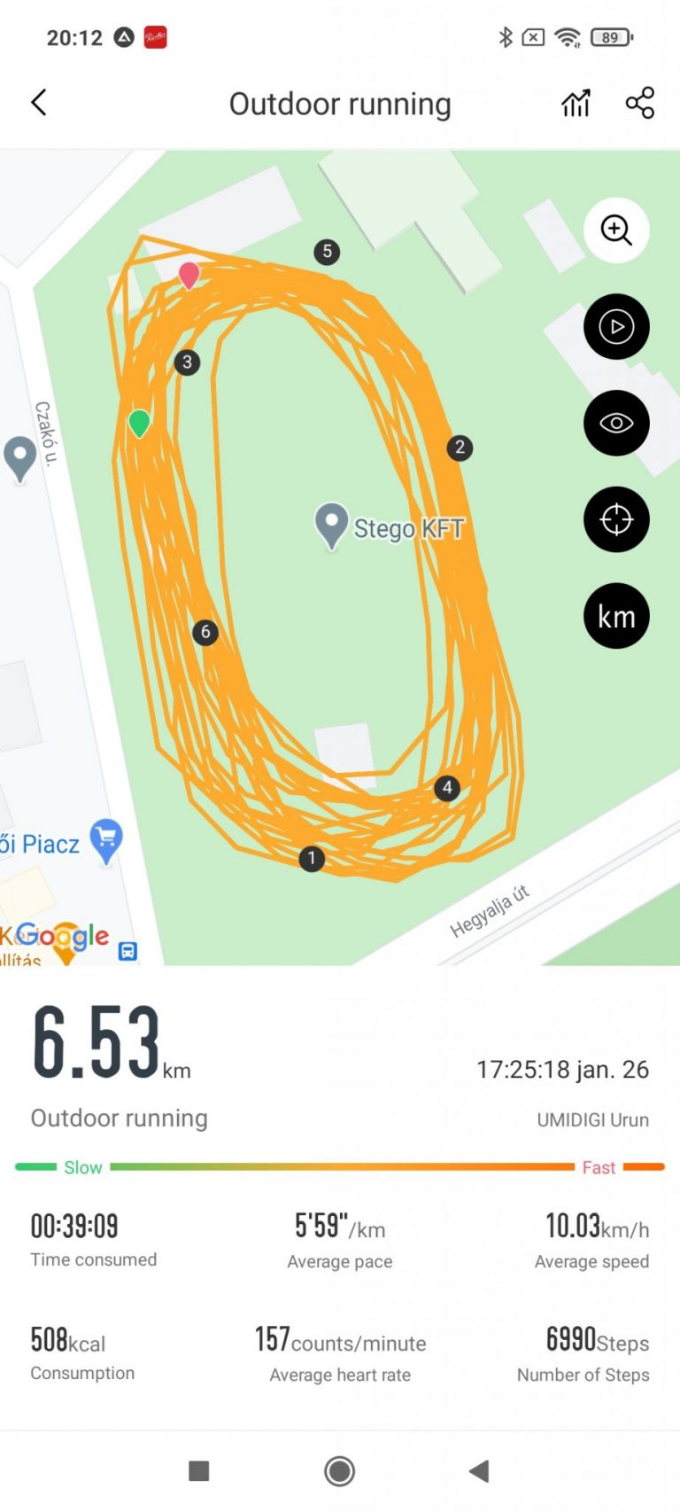 Umidigi Urun sportóra teszt 24