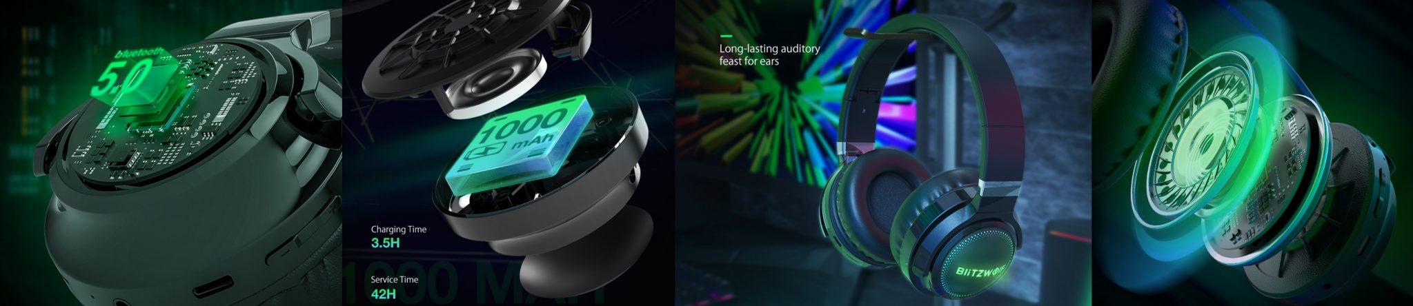 BlitzWolf BW-HP0 Pro fejhallgató teszt 13