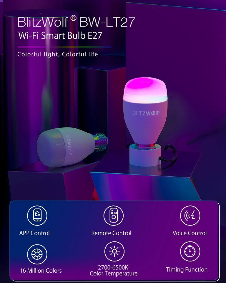 Olcsó és okos – akciós a BlitzWolf BW-LT27 2