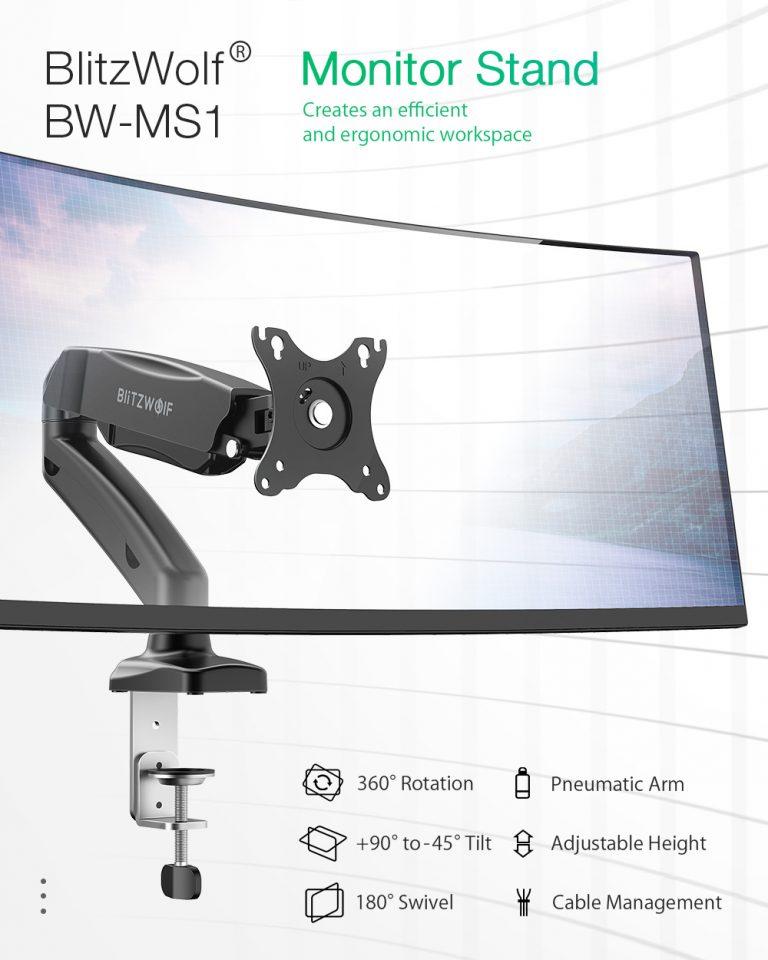 Praktikus monitortartó: BlitzWolf BW-MS1 2