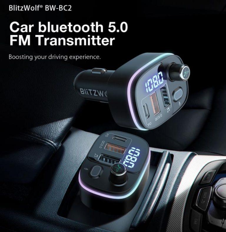 Itt az újabb gyorstöltős FM transzmitter a BlitzWolftól 2