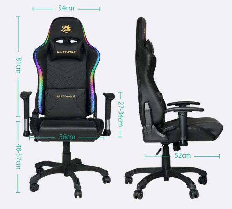 Már előrendelhető a BlitzWolf BW-GC8 és GC9 gamer szék 8
