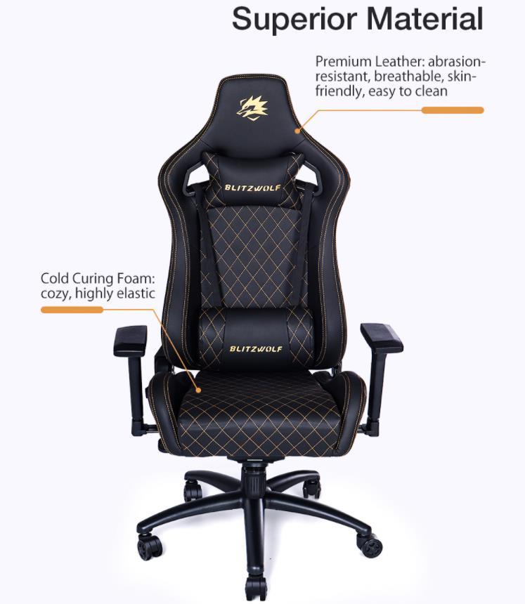 Már előrendelhető a BlitzWolf BW-GC8 és GC9 gamer szék 12