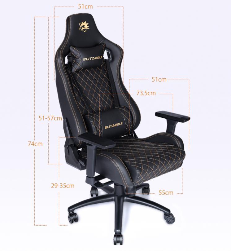 Már előrendelhető a BlitzWolf BW-GC8 és GC9 gamer szék 13