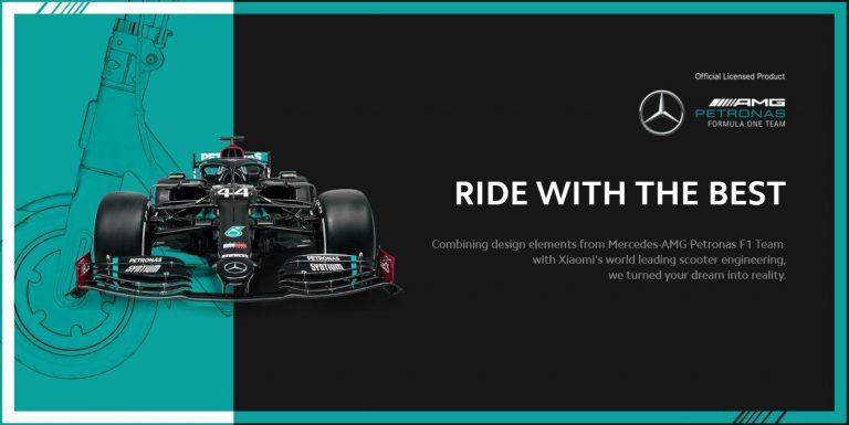 Xiaomi ft. Mercedes-AMG Petronas elektromos roller a piacon 4