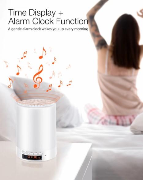 BT hangszóró, ébresztő, éjjeli fény egy kütyüben: Digoo DG-663 6