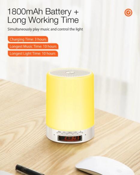 BT hangszóró, ébresztő, éjjeli fény egy kütyüben: Digoo DG-663 5