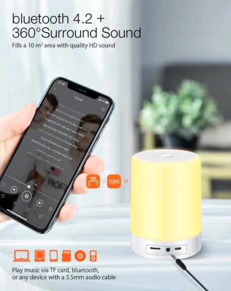 BT hangszóró, ébresztő, éjjeli fény egy kütyüben: Digoo DG-663 7