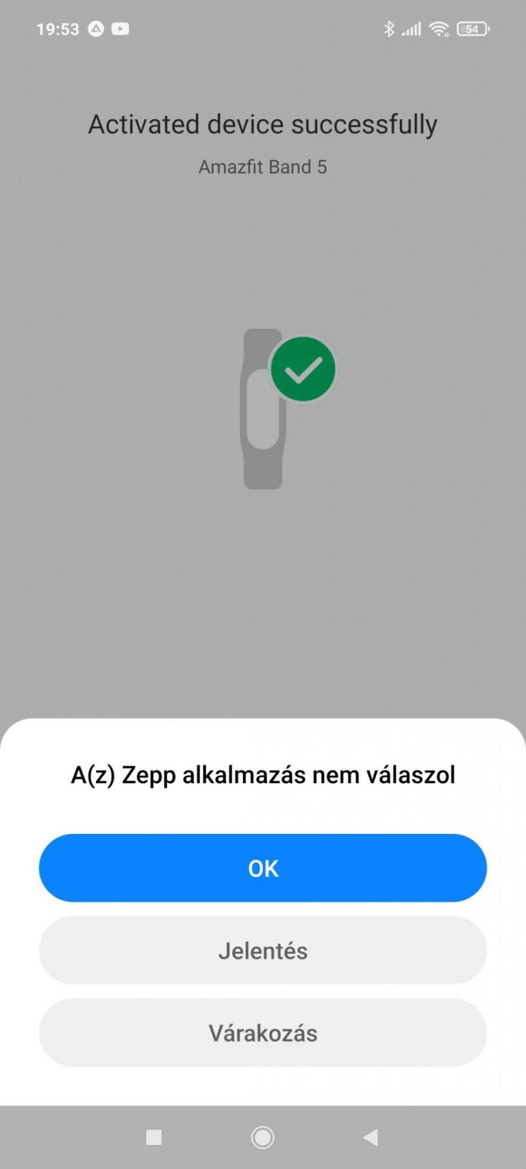 Xiaomi Amazfit Band 5 aktivitásmérő teszt 11