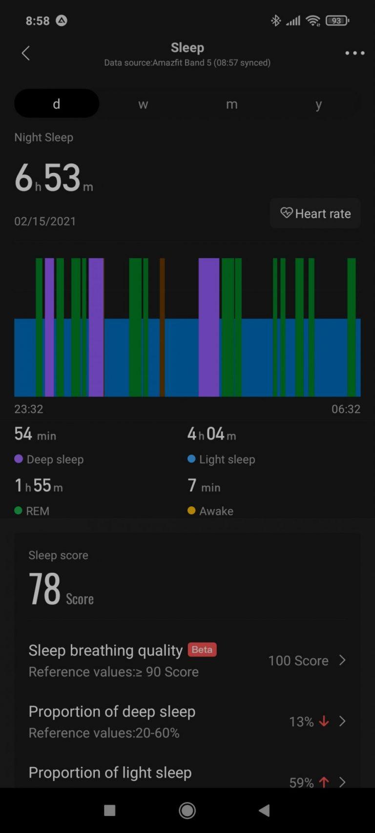Xiaomi Amazfit Band 5 aktivitásmérő teszt 26