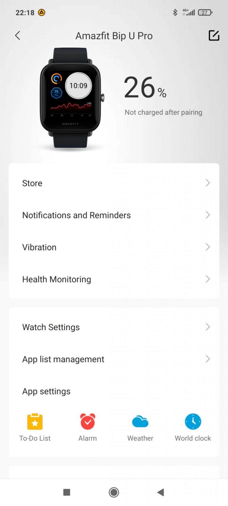 Xiaomi Amazfit Bip U Pro sportóra teszt 15