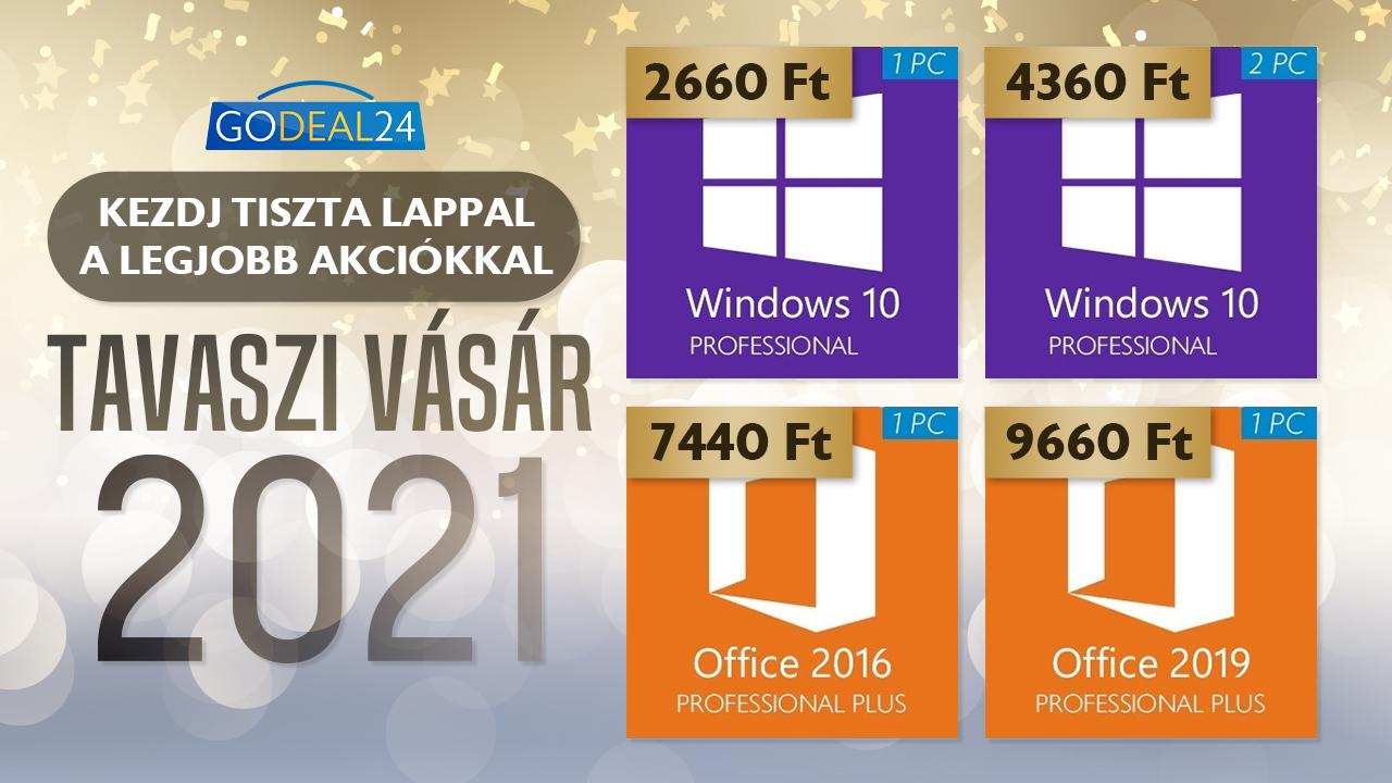 Windows 10 Pro kevesebb, mint 2500 forintért 2