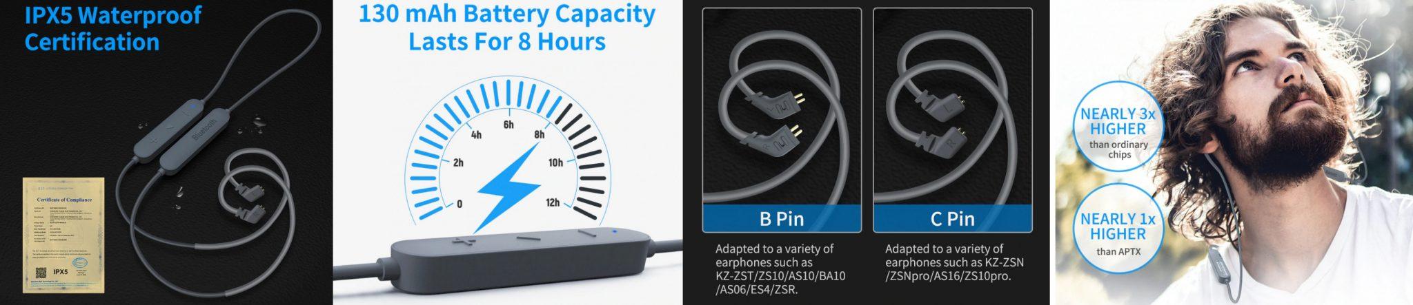 KZ aptX HD Bluetooth adapter teszt 12