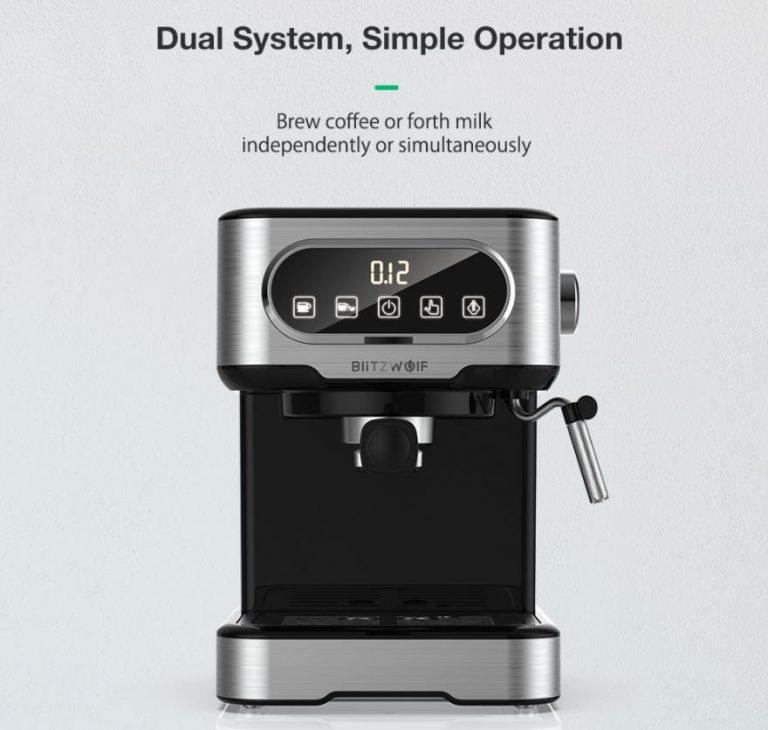 Filteres és presszógéppel kacsint be a kávégép piacra a BlitzWolf 13