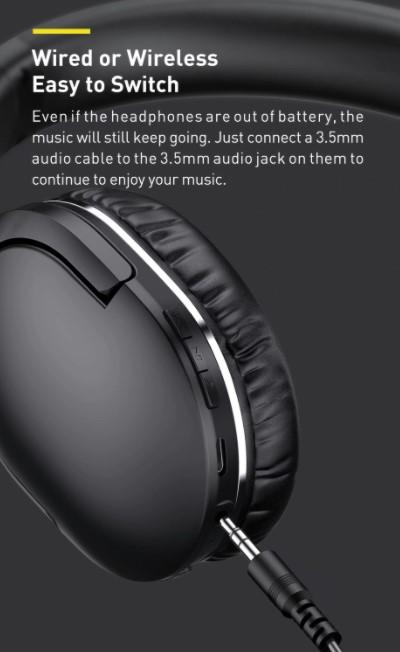Letisztult külsejű Bluetooth fejhallgató a Baseustól 8