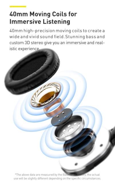 Letisztult külsejű Bluetooth fejhallgató a Baseustól 6