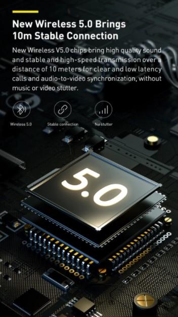 Letisztult külsejű Bluetooth fejhallgató a Baseustól 5