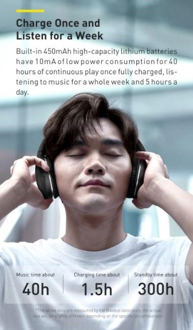Letisztult külsejű Bluetooth fejhallgató a Baseustól 3