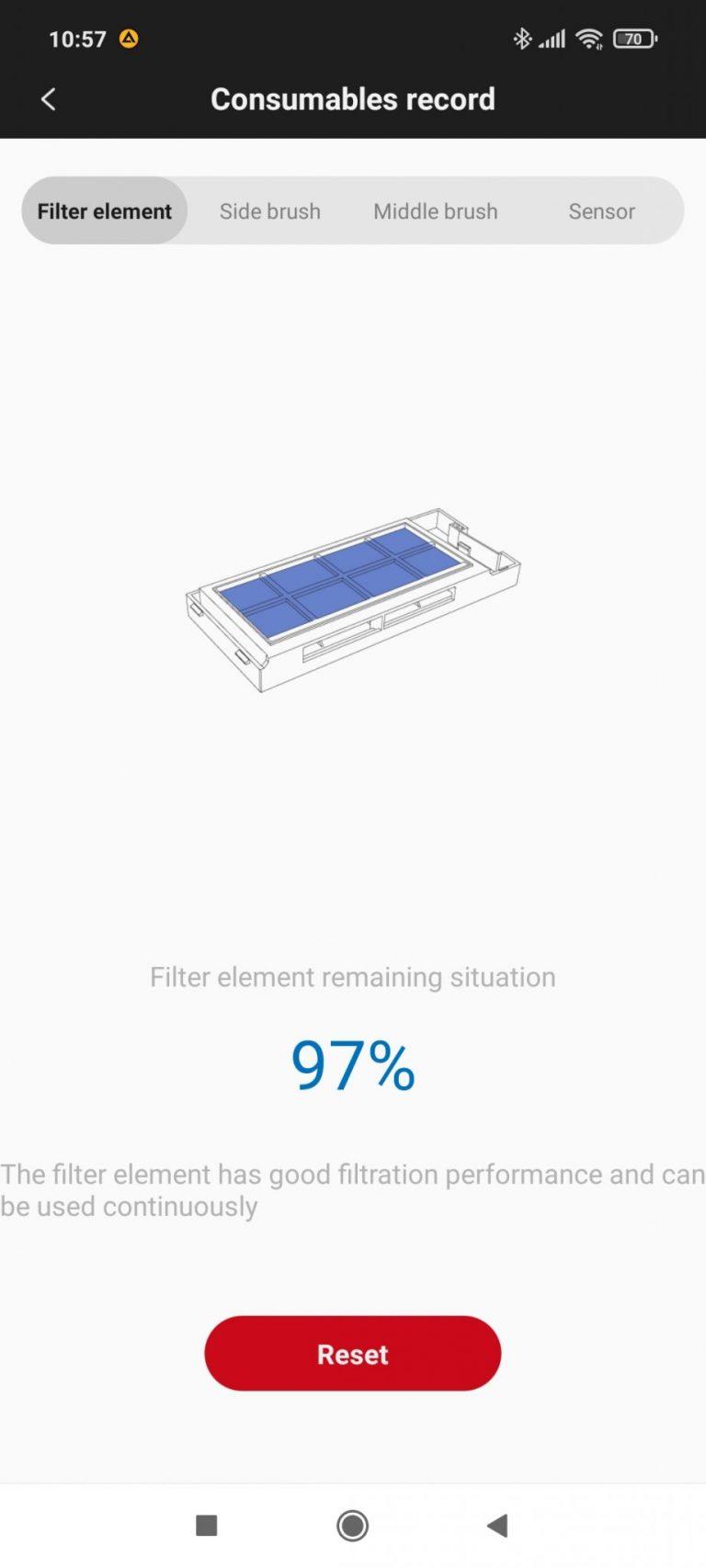 Xiaomi Roidmi Eve Plus önürítő robotporszívó teszt 38