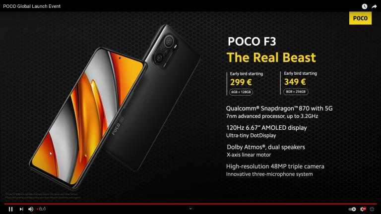 Már kapható a Poco F3 a Xiaomishopnál 16