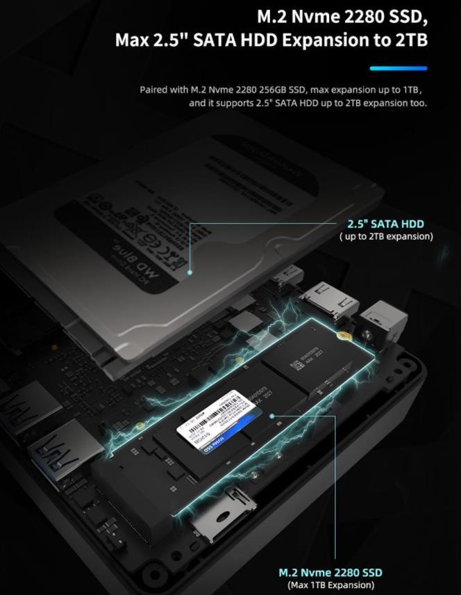 Itt a GMK NucBox 2, ami egy erőgép az első variánshoz képest 7
