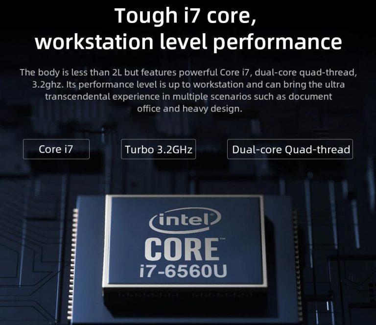 Régebbi i7-es processzoros a Chuwi CoreBox X mini PC 5
