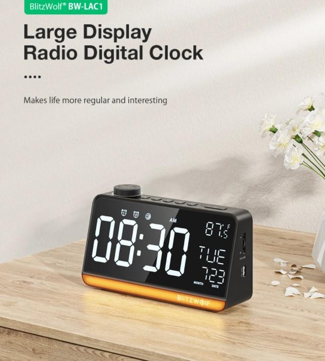 A BlitzWolf is villantott egy többfunkciós ébresztőórát 8