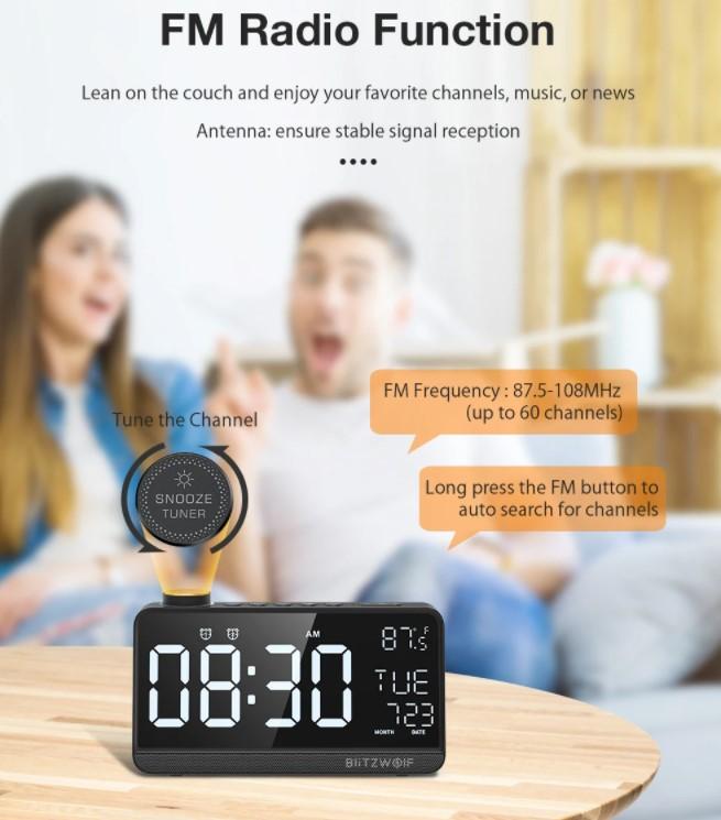 A BlitzWolf is villantott egy többfunkciós ébresztőórát 6