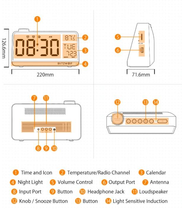 A BlitzWolf is villantott egy többfunkciós ébresztőórát 2