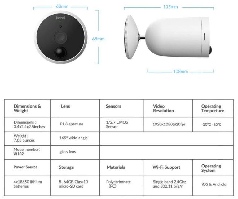 Yi Kami akkumulátoros kültéri kamera kiemelkedően jó áron 7