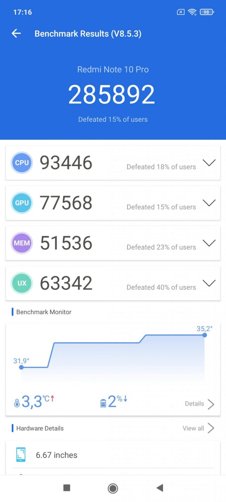 Xiaomi Redmi Note 10 Pro okostelefon teszt 16