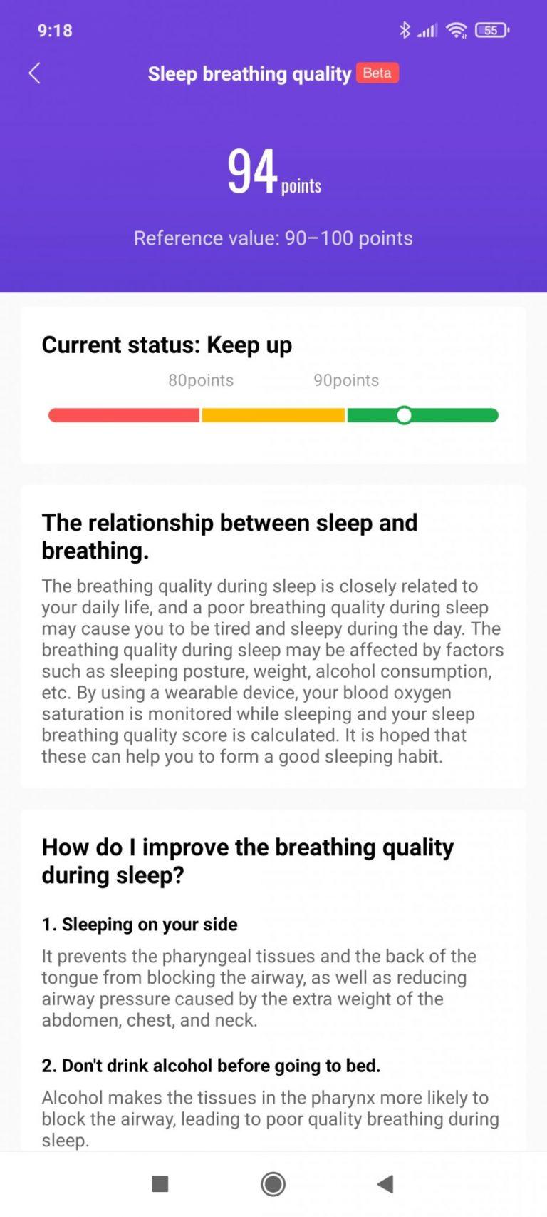 Xiaomi Mi Smart Band 6 aktivitásmérő teszt 22