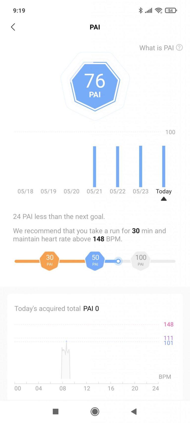 Xiaomi Mi Smart Band 6 aktivitásmérő teszt 26