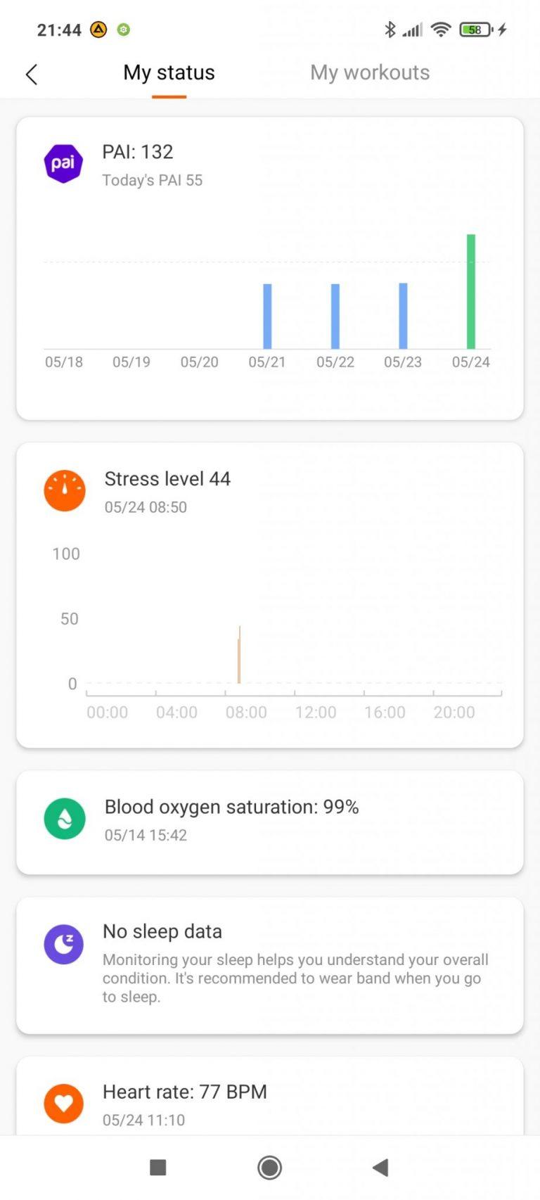 Xiaomi Mi Smart Band 6 aktivitásmérő teszt 27