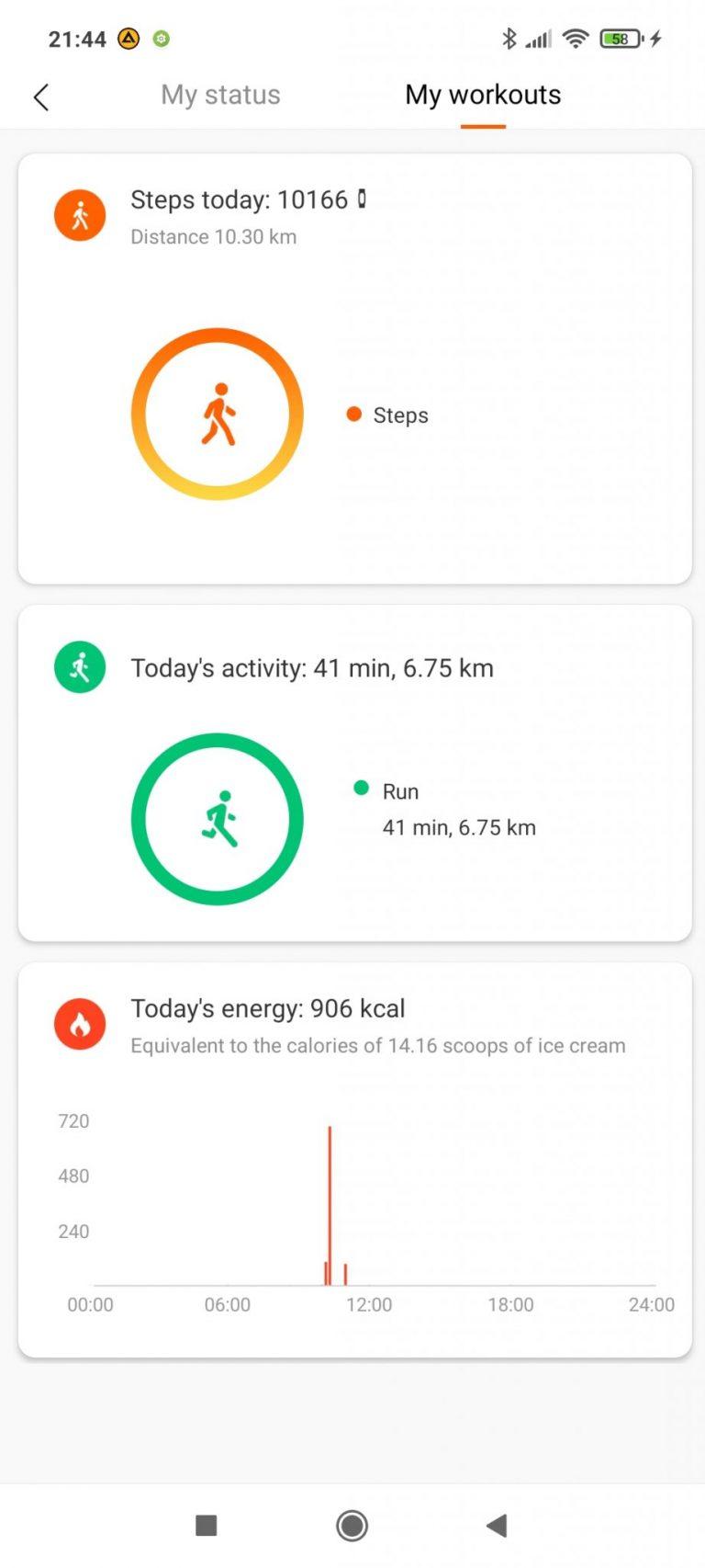 Xiaomi Mi Smart Band 6 aktivitásmérő teszt 28