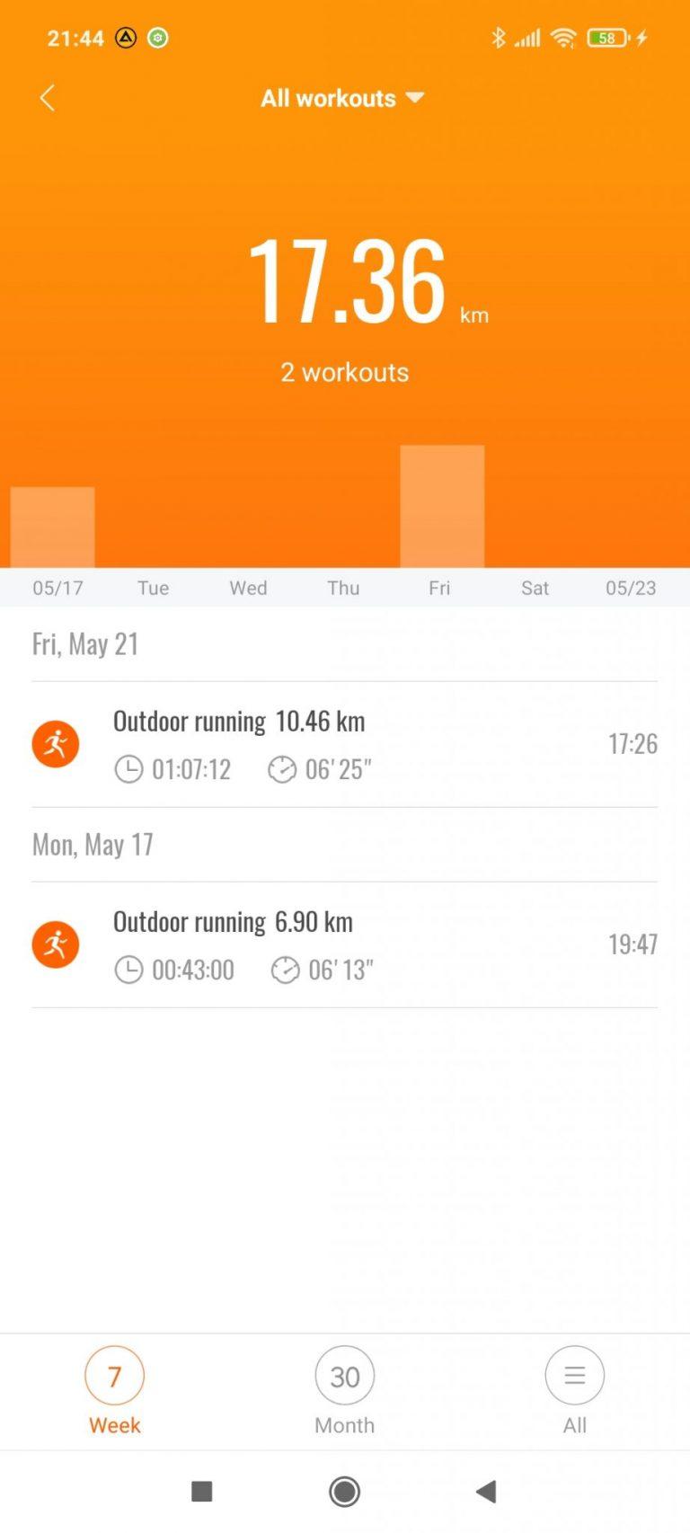 Xiaomi Mi Smart Band 6 aktivitásmérő teszt 29