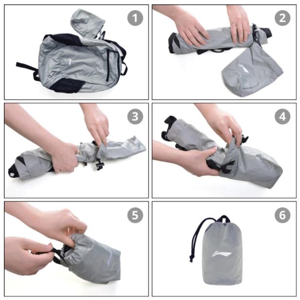 Összehajtható, filléres Li-Ning hátizsák kapható 5