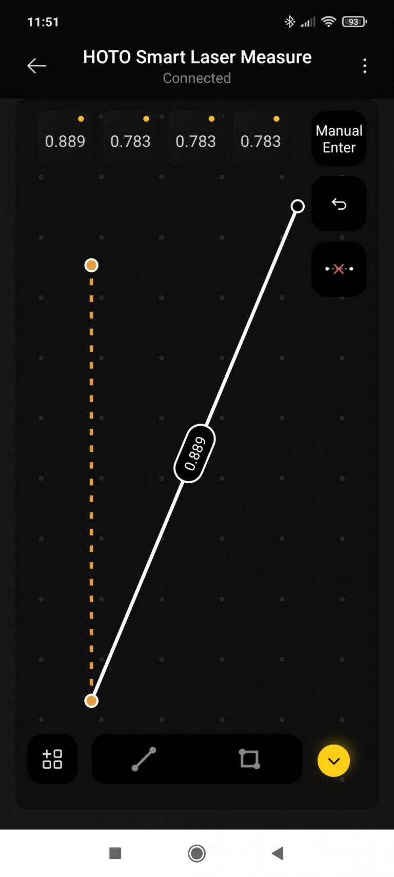 HOTO lézeres okos távolságmérő teszt 15