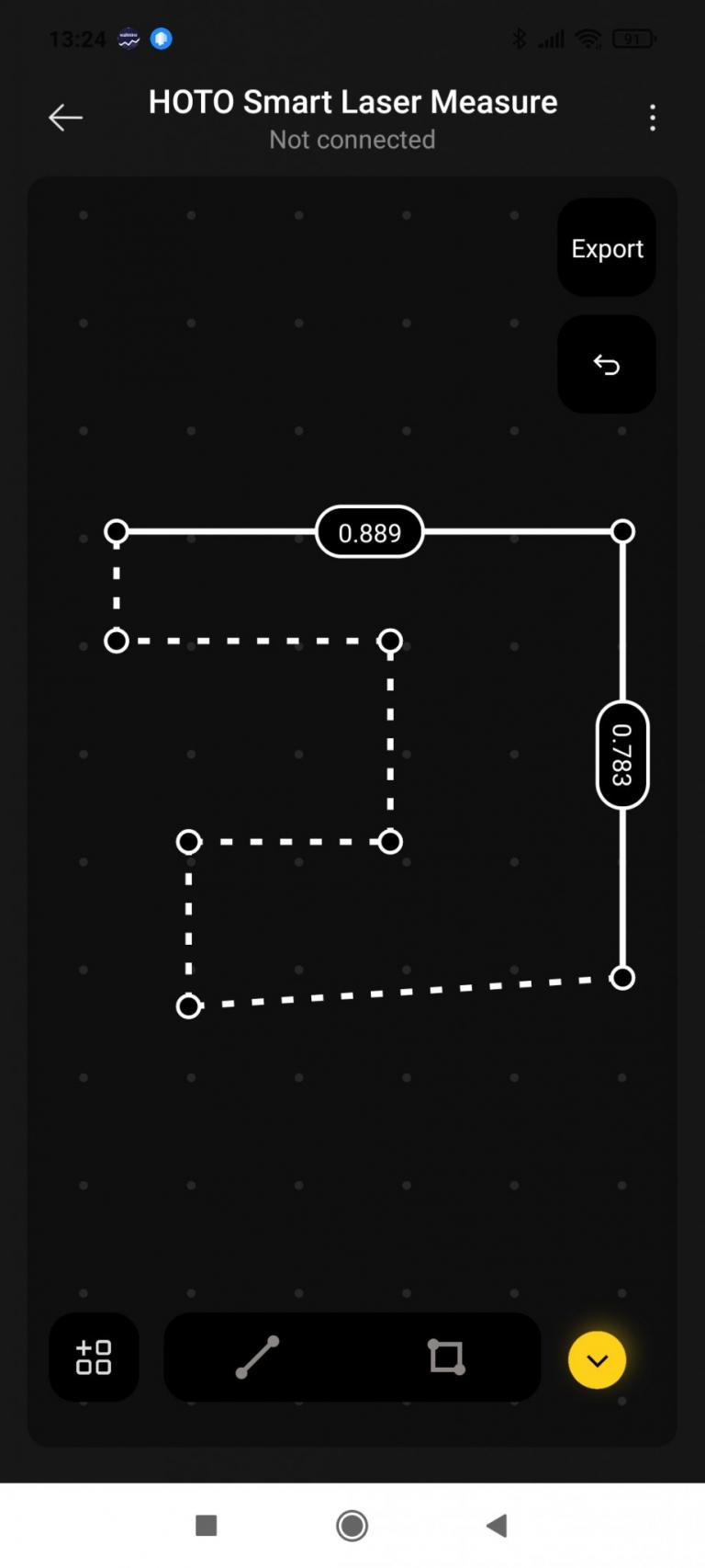HOTO lézeres okos távolságmérő teszt 22