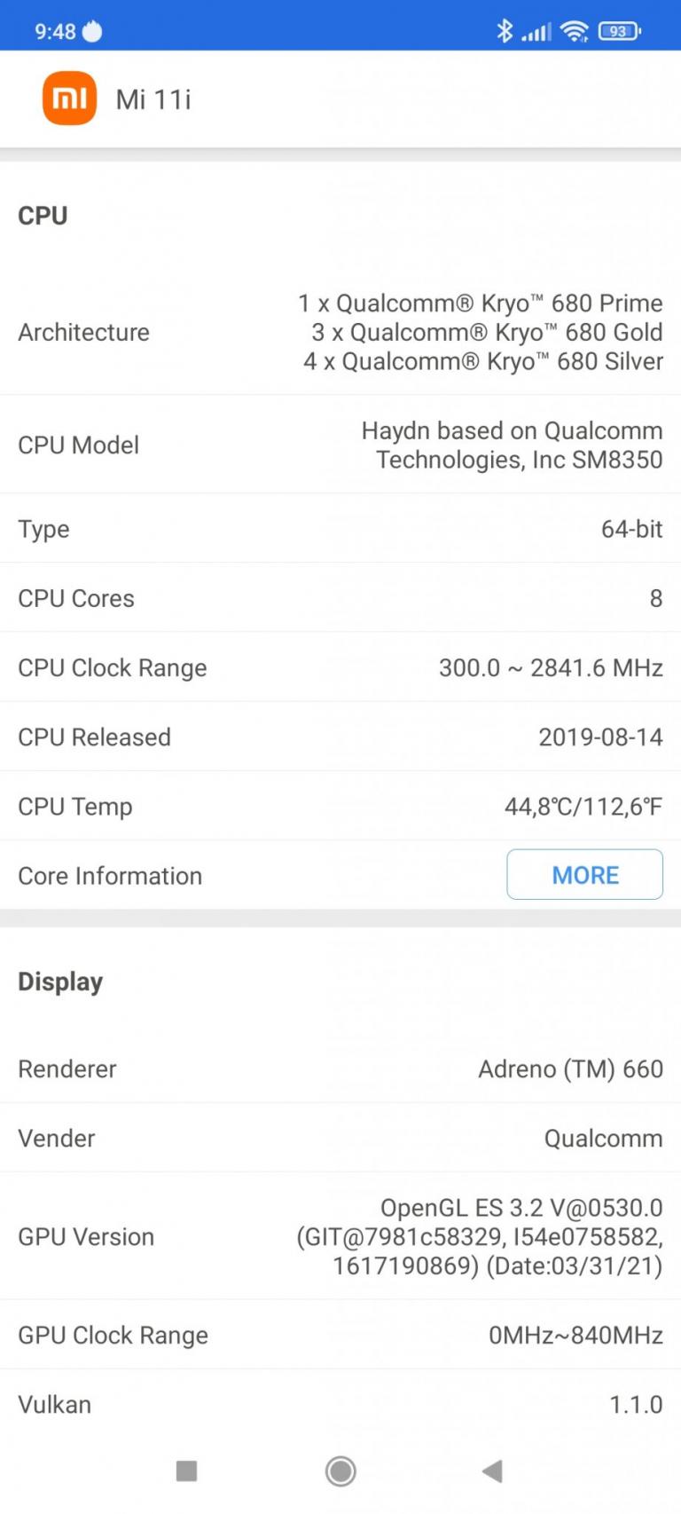 Xiaomi Mi 11i okostelefon teszt 33
