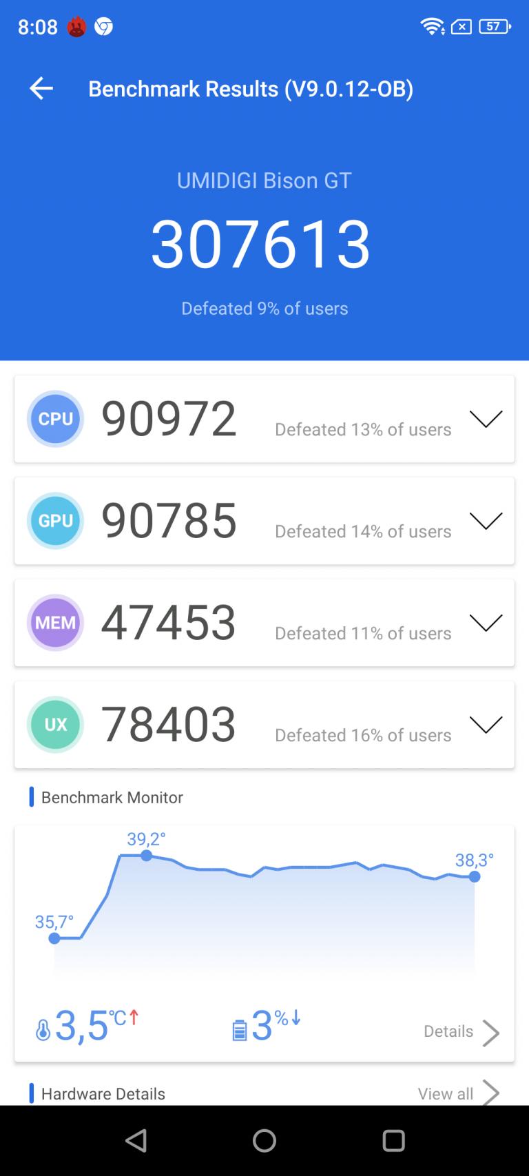 Umidigi Bison GT strapatelefon teszt 23