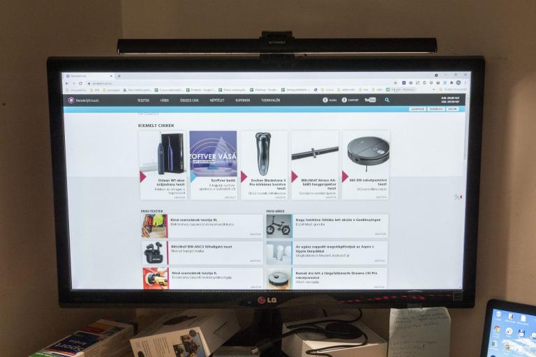 BlitzWolf BW-CML1 monitor lámpa teszt 7