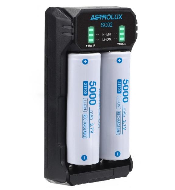 Szinte minden szabvány aksit tölthetünk az Astrolux SC02-vel 3