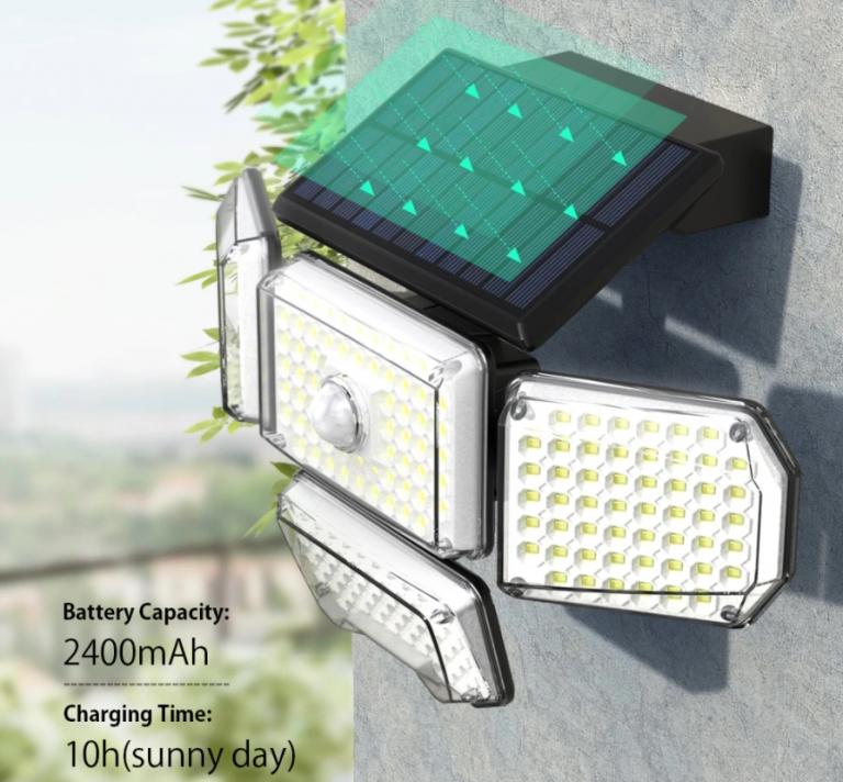 214 LED van az új mozgásérzékelős, napelemes BlitzWolf lámpán 3