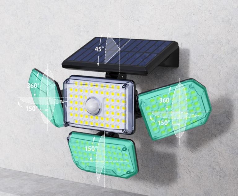 214 LED van az új mozgásérzékelős, napelemes BlitzWolf lámpán 6