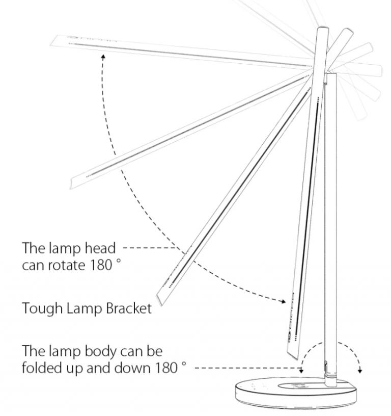 Qi töltős okos asztali lámpa akció a Banggood leárazásán 10
