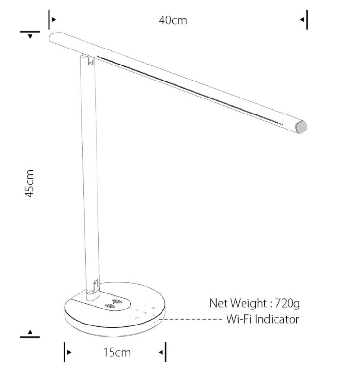 Qi töltős okos asztali lámpa akció a Banggood leárazásán 9